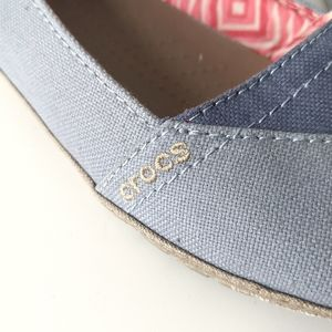 CROCS Shoes - Crocs Angeline Flats in Blue canvas fabric size 9